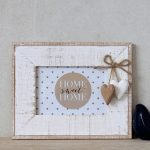 Hamptons Distressed Wooden Hearts Photo Frame