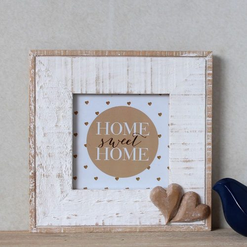 Hamptons Distressed Wooden Hearts Square Photo Frame