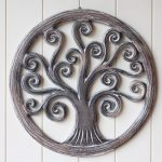 Hand Carved Tree Of Life Wooden Wall Art