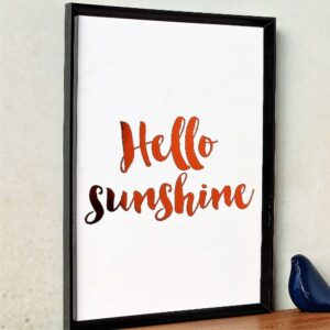 Hello Sunshine Copper Foil Marble Art Print