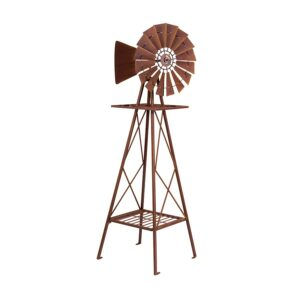 Extra Large Rustic Iron Heavy Duty Garden Metal Windmill