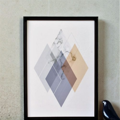 Vibrant Geometric Diamonds Art Print