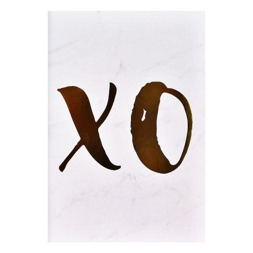 XO Gold Foil Marble Art Print