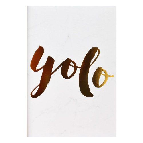YOLO Gold Foil Marble Art Print