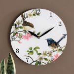 Australian Blue Wren Bird Wooden Wall Clock