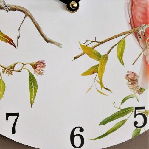 Australian Galah Cockatoo Bird Wooden Wall Clock