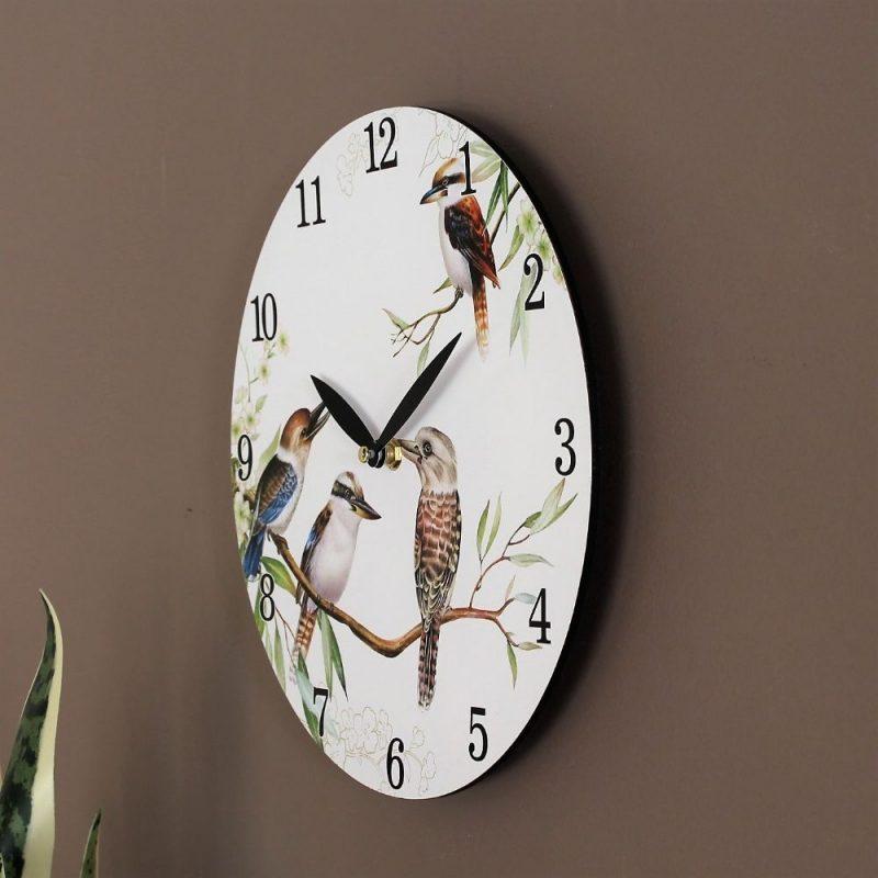 Australian Kookaburra Bird Wooden Wall Clock