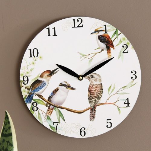 Australian Kookaburra Bird Wooden Wall Clock