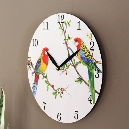 Australian Parrot Bird Wooden Wall Clock