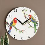 Australian Parrot Bird Wooden Wall Clock