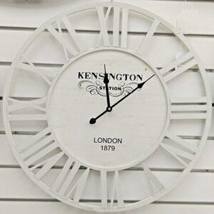Large Coastal White Metal Wall Clock