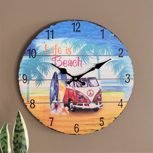 Life is Beach Camper Wall Clock