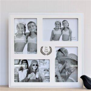 Live Love Laugh White Multi Collage Wooden Photo Frame