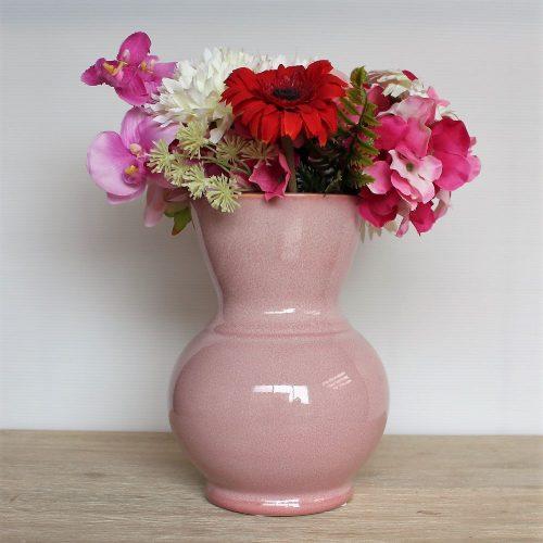 Pink Aventurine Glazed Ceramic Flower Vase