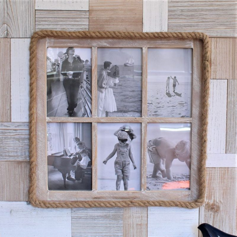 6 In 1 Rustic Timber Multi Collage Photo Frame Dalisay