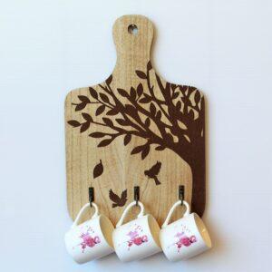 Tree Of Life Board Hook Key Rack Holder