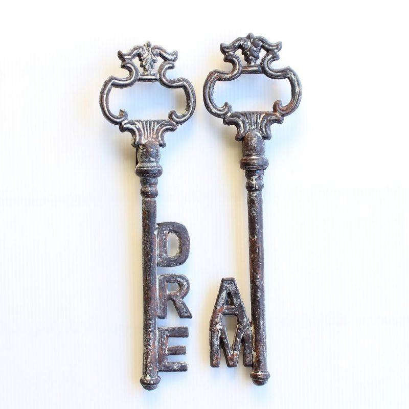 Rustic Cast Iron Dream Keys Ornament