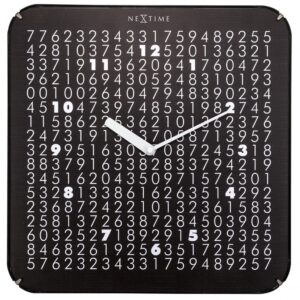 Black White Numbers Silent Wall Clock