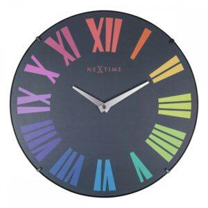 Black rainbow Nextime Silent Wall Clock