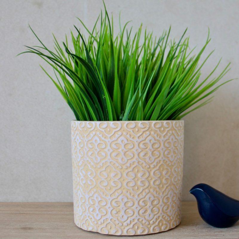 Bohemian Light Yellow Terracotta Pot Planter