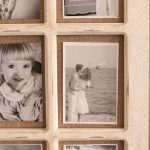 9 In 1 Rustic White Hessian Wall Photo Picture Frame_1