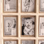 9 In 1 Rustic White Hessian Wall Photo Picture Frame_5