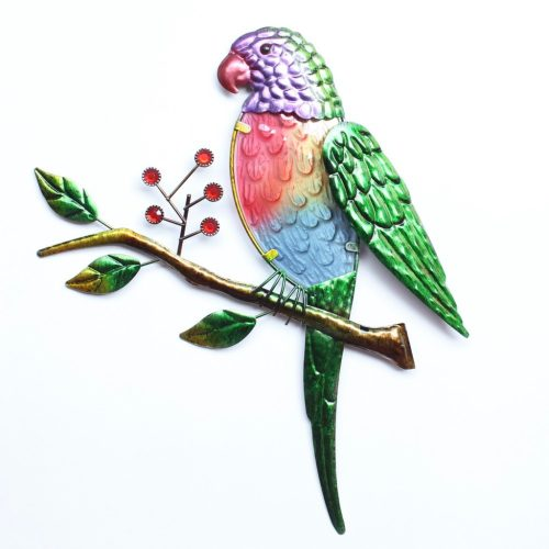 Australian Rainbow Lorikeet Parrot Metal Wall Art
