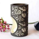 Black And White Monstera Leaves Porcelain Oil Burner_6