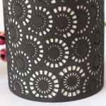 Black And White Moroccan Circles Porcelain Oil Burner_4