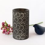 Black And White Moroccan Circles Porcelain Oil Burner_6