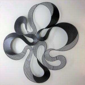 Black Flower Abstract Metal Wall Art