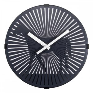 Black Walking Motion Horse NexTime Wall Clock