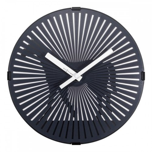 Black Walking Motion Horse NexTime Wall Clock