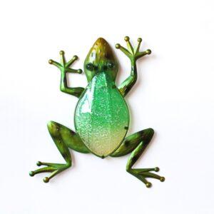 Climbing Green Tree Frog Metal Wall Art