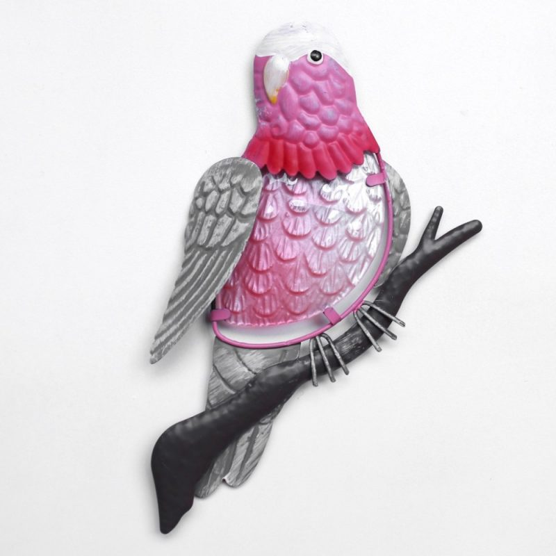 Pink Australian Galah Bird Metal Wall Art