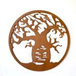 Rustic Iron Boab Tree Metal Wall Art