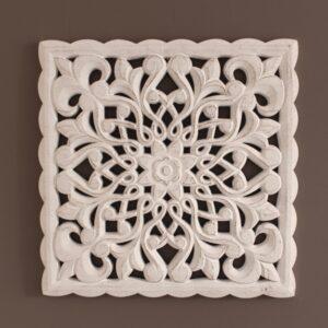 Shabby Chic White Bohemian White Mandala Wall Art
