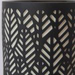 Tropical Leaf Pattern Black Porcelain Oil Burner_1