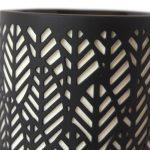 Tropical Leaf Pattern Black Porcelain Oil Burner_5