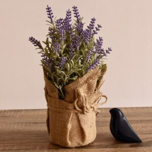 Artificial Lavender Flowers Plant in Sack Pot Planter
