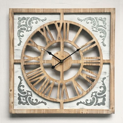 Hamptons Style X Large French Square Feature Wall Clock