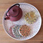 White Wash Mandala Pattern Metal Tray Set_1