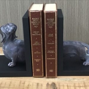 2 Pieces Resin Sausage Dog Figurine Bookends