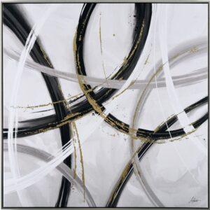 Abstract Brush Strokes Framed Canvas Print Wall Art
