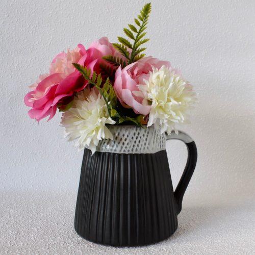 Black And White Ceramic Jug Decorative Vase