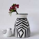 Black And White Tribal Haxan Ceramic Vase