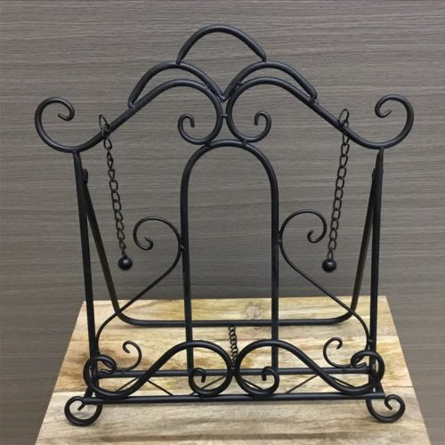 French Black Metal Cook Book Stand Recipe Holder