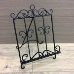 French Scroll Black Metal Cook Book Stand Recipe Holder