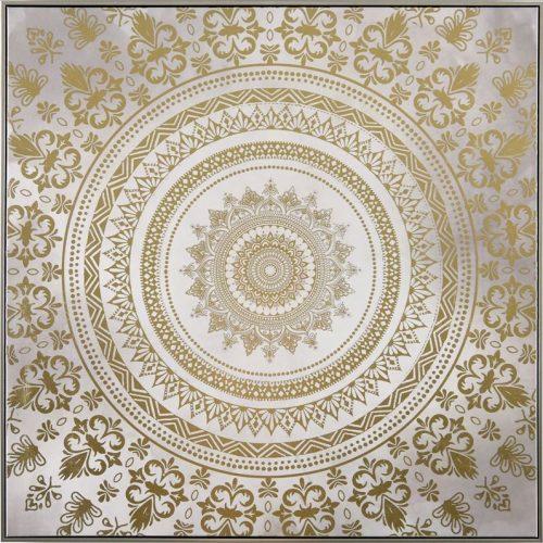 Gorgeous Mandala Pattern Framed Canvas Print Wall Art