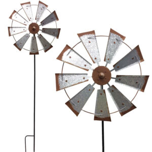 Heavy Duty Rustic Garden Windmill Spinner
